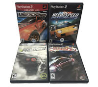 4 PS2 Need For Speed Racing lot Underground Carbon Pro Street Hot Pursuit 2