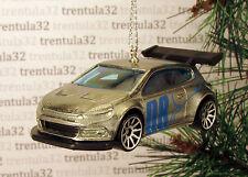 VOLKSWAGEN SCIROCCO GT 24 VW CHRISTMAS ORNAMENT Silver/Blue Race Car Racing XMAS