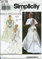 S 8176 sewing pattern JESSICA Wedding DRESS Bridal GOWN sew sizes 10-12-14 UNCUT