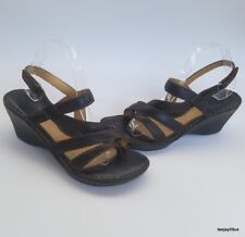 ~EXCELLENT!~ Born Slingback Strappy Brown Leather Thong Sandals Shoes 9 M 40.5