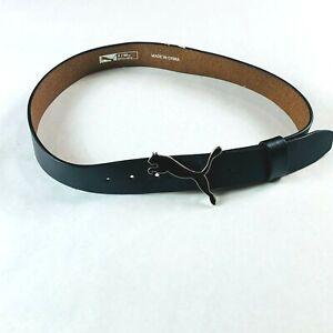 "Puma Golf Genuine Belt Black Size Small (80cm) with Puma Logo Buckle W30- 32"""