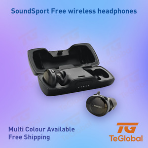 [Pre owned] Bose Soundsport Free Wireless Buds with charging case, Yellow AS NEW