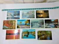 Vintage Lot Of 10 Postcards ~ Michigan Water Scenes ~ Ships FREE