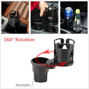 360° Rotation Car SUV Stretchable Cup Holder Storage Beverage Rack Water Bracket