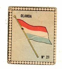 CALCIO  Figurina Stadio ed .BEA 1948-49  BANDIERA  OLANDA  NR  21
