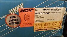 Mercedes front disc Sebro W211 2114210812 or 2114210712