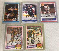 Vancouver Canuck Autographed Signed Card LOT Naslund Adams Fraser Kearns Plavsic