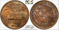 """1974-MO MEXICO 20 CENTAVOS """"CENTS"""" PCGS MS64RB COLOR TONED ONLY 6 GRADED HIGHER"""