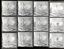 Nude Poses Plays w/Cockatiel HENDRICKSON Negative Photograph Contact Sheet D1018