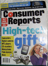 CONSUMER REPORTS NOV 2000 HIGH-TECH GIFTS, BST ONLINE