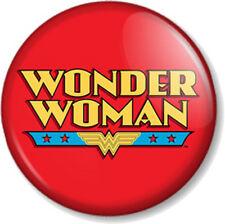 Wonder Woman Logo 2 25mm Pin Button Badge Lynda Carter Comic Retro TV Superhero