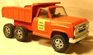 RARE 1972 vintage Tonka Toy DODGE STATE HI-WAY DEPT TANDEM REAR AXLE DUMP TRUCK