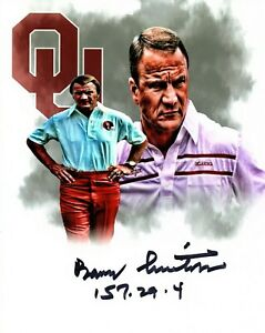 Barry Switzer Oklahoma Sooners signed autographed 8x10 football photo CHAMPS b