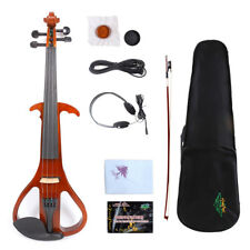 Yinfente Electric Silent Violin 4/4 Handmade Free Case+Bow+Rosin+Cable #EV3