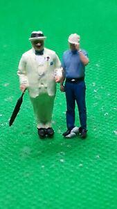 fine scale model figure 00 gauge  handpainted hercule poirot and Hastings