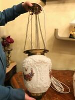 RARE Antique BEAUTIFUL Hanging Chain Lamp
