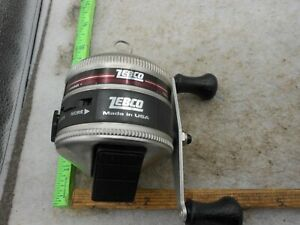 Vintage Zebco 33 PURPLE LABEL FISHING REEL MADE IN USA