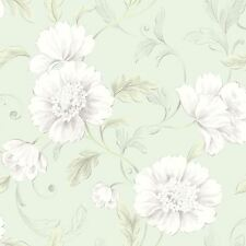 Boutique Papel Pintado Floral Verde - Rasch 226157 Flores
