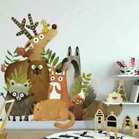 Jungle Animals Wall Stickers Kids Nursery Home Decor Removable Vinyl Decal Art