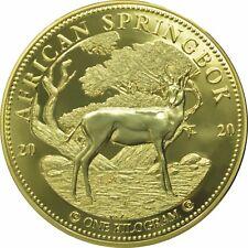 10 Cedis Ghana 2020 - 1 Kilo African Springbok 2020 vergoldet