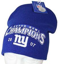 27d4141882400e NEW YORK NY GIANTS REEBOK NFL - SUPER BOWL XLII CHAMPIONS BLUE BEANIE CAP  2007