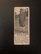 1925 V31 Canadian Dominion Chocolate George S. Lyon (Golf)