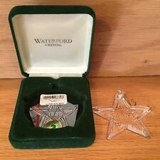 1995 Waterford Crystal Star Ornament Christmas Memories Collection