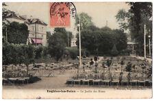 CPA 95 - ENGHIEN LES BAINS (Val d'Oise) - Le Jardin des Roses - Ed. J. Moirand