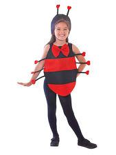 Boys Girls Childrens Ladybug Ladybird Tabard Fancy Dress Costume Book Day Week