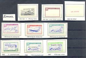 GREAT BRITAIN SARK 1964/67 9 ST. - ERRORS - MOST (*) --VF