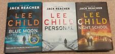 Bundle of LEE CHILD Hardbacks, BLUE MOON, PERSONAL& NIGHT SCHOOL, Jack Reacher!