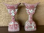 Jacob E Bang for Nymolle, Pair of Double-Sided Man Women Candlesticks Studio