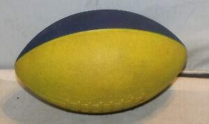 Vintage NERF Football Yellow Blue Original Parker Brothers 2 tone
