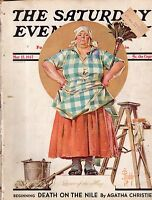 1937 Saturday Evening Post May 15-Leyendecker; Agatha Christie; Macon Dirigible