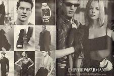 Publicité Advertising 1998  (Double page)  Montre EMPORIO ARMANI
