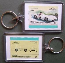 1954 Mercedes Benz W196 Car Stamp Keyring (Auto 100 Automobile)