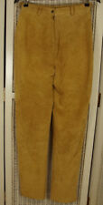 PANTALON CHAMELEON Suede Trousers 27W 30L Women's 11 Camel Tan Lined Leather