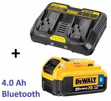 NEW DeWALT 20-Volt MAX Bluetooth 4.0-Ah Lithium-Ion Battery & Dual-Charger & USB