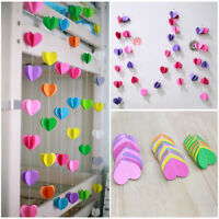 Heart Hanging Paper Garlands Wedding Party Birthday Baby Shower Table Decoration