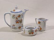 Vecchia Bambini-Stoviglie Rudolstadt porcellana caffè caraffa zuccheriera lattiera