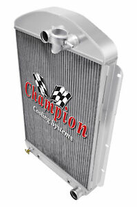 3 Row Performance Champion Radiator for 1937 Chevrolet Master Car V8 Conversion