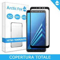 Pellicola Vetro Temperato Full Copertura Totale Display Samsung Galaxy A8 2018