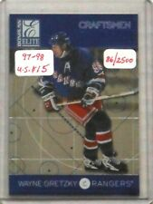 "1997/98 Gretzky Donruss Elite ""Craftsmen"" Insert Card #'d 0086/2500"