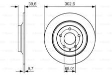 2x Bremsscheibe für Bremsanlage Hinterachse BOSCH 0 986 479 C28