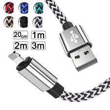 2M 3M Extra Long Fast Charging USB Data Charger Cable Lead For Apple iPhone iPad