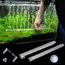 Plastic Aquarium Fish Tank Curtain Air Vent Bubble Bar Release Diffuser Set New