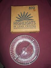 """Princess House Highlights Lead Crystal in box 870 divided serving dish 8"""""""