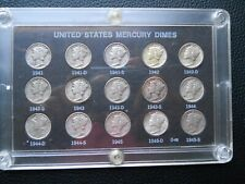 1941-1945PDS Mercury Dime Set (F-XF)
