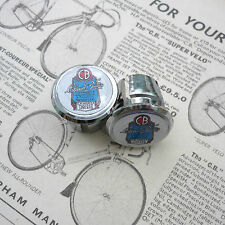 Vintage Claud Butler, King of Lightweights, Chrome Racing Bar Plugs, Caps, Repro