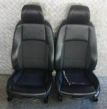 BMW E92 Heated M Sport Black Leather / Cloth Front Left Right N/O/S Seats Memory